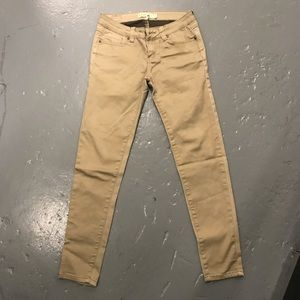 👑 Love culture gold sheen khaki pants stretch 3